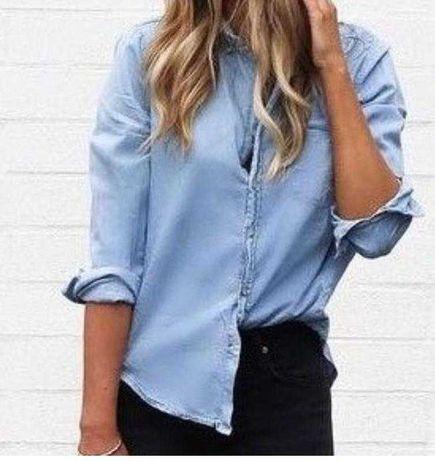 Рубашка джинсовая голубая котон zarа сорочка блуза блузка