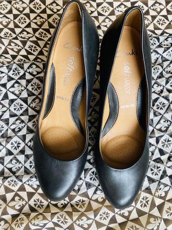 Кожаные туфли/шкіряні туфлі Clarks 38,5-39