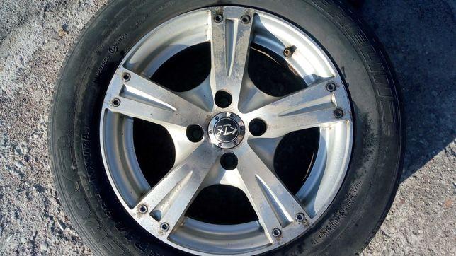 Sprzedam felgi aluminiowe KTR 14 cali, 4 sztuki z oponami 185/65R14.