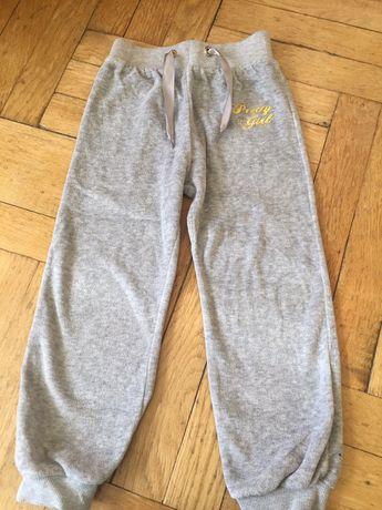 Spodnie dresowe welurowe ciepłe 98 dresy