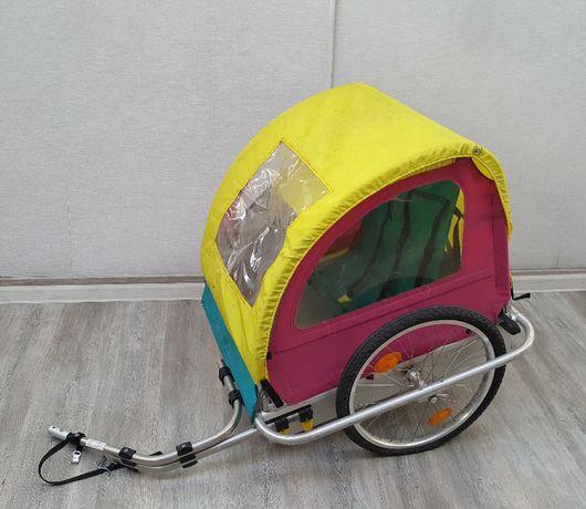 przyczepka rowerowa dla psa do transportu aluminiowe twarde dno