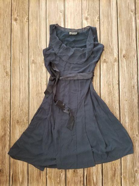 Платье yaya, темно синее платье за колено, нарядное платье, выпускное