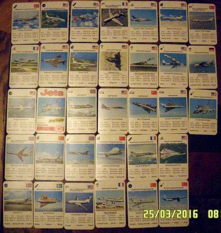 Karty kolekcjonerskie stare samoloty 33 szt