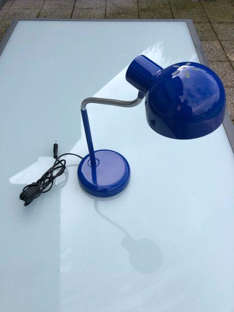 Lampka na biuro niebieska giętka wys. 52 cm