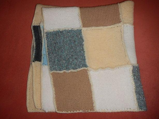 плед одеяло ручной работы 80см х 72см покрывало