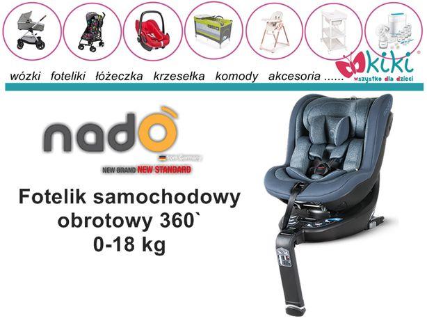 Fotelik samochodowy Nado 360` 0-18 kg I-Size czarny