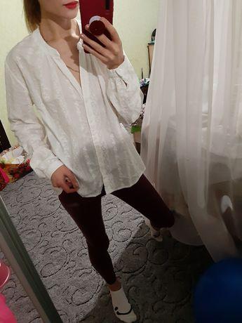 Шикарная белая, біла хлопковая рубашка,сорочка оверсайз от cos