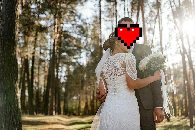 Весільне плаття фасону рибка