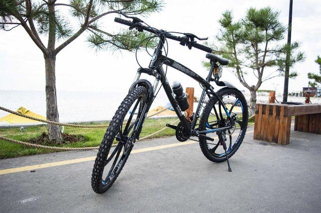 """+ПОДАРОК!! Велосипед BLАCK WHIТE BMW нa литыx диckax 26"""" W0085"""