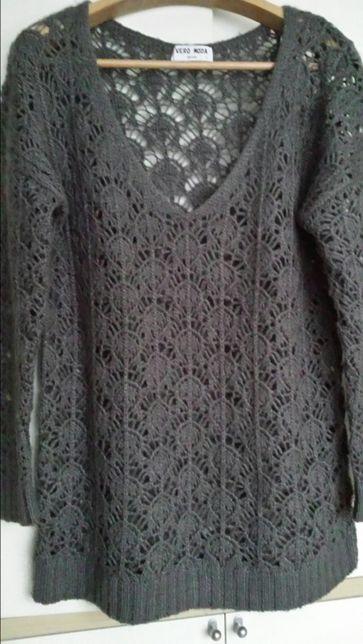 Szary ażurowy sweterek Vero Moda