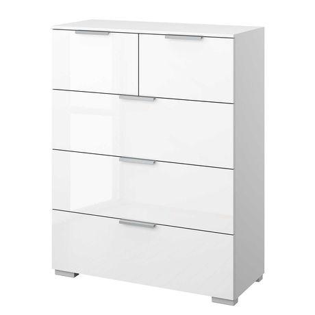 Komoda 6 szuflad biała NOWA / regał szafka z szufladami