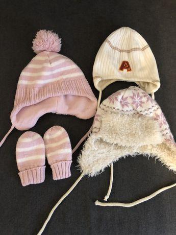 Czapeczki zimowe dla dziewczynki