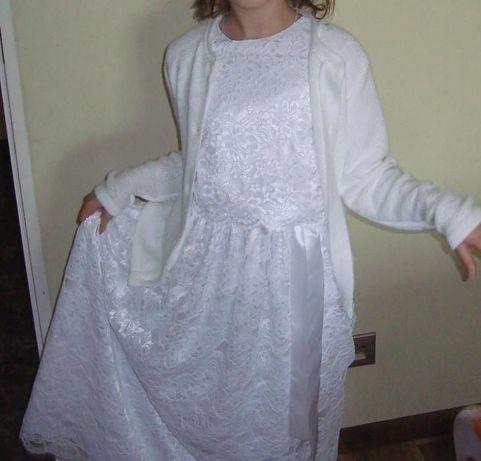 sukienka komunijna + GRATIS dodatki