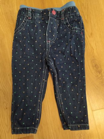 Spodnie jeansowe r. 74-80