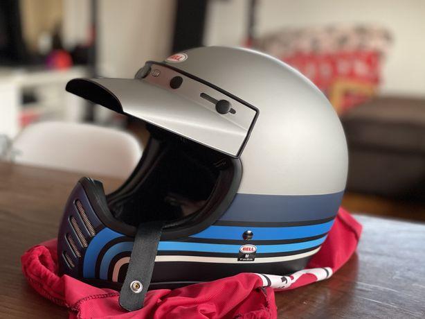 Capacete Bell Moto 3 tamanho M - Vintage Cafe-Racer Scrambler