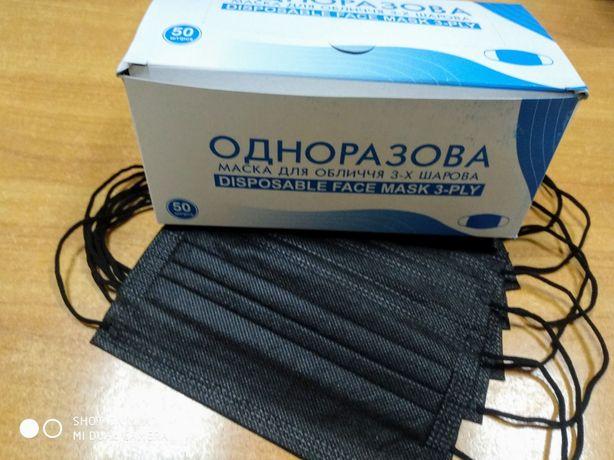 Захисні Чорні маски Преміум якості за доступною ціною від виробника