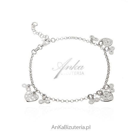 ankabizuteria.pl kolczyki wkręty Bransoletka srebrna z przywieszkami :