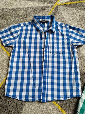 Elegancka koszula chłopięca w kratkę  92 98 + gratis