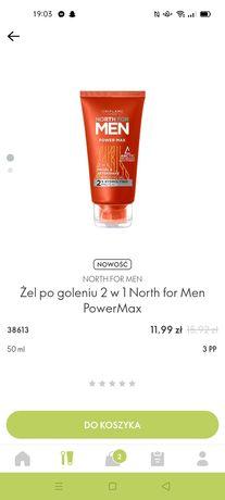 Żel po goleniu 2 w 1 North for Men PowerMax  Oriflame