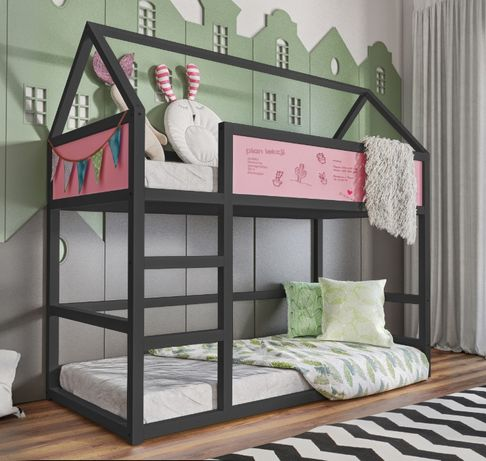 Sosnowe łóżko Domek dla dzieci i młodzieży! Materace gratis!