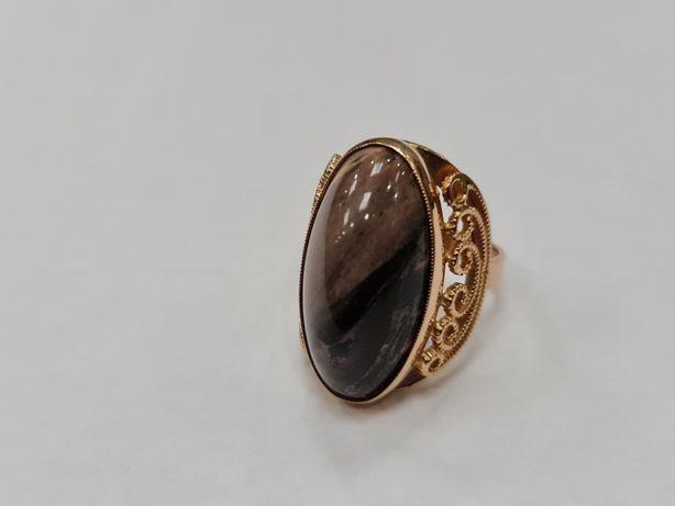 Wyjątkowy kamień! Piękny złoty pierścionek/ Radzieckie 583/ 9.8 g/ R13