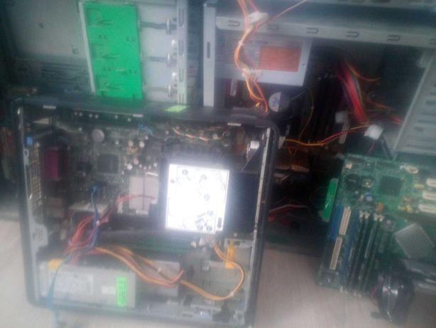9 компьютеров и 5 мониторов