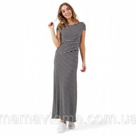 """Платье """"Вояж"""" для беременных и кормящих I love mum серый меланж/черный"""