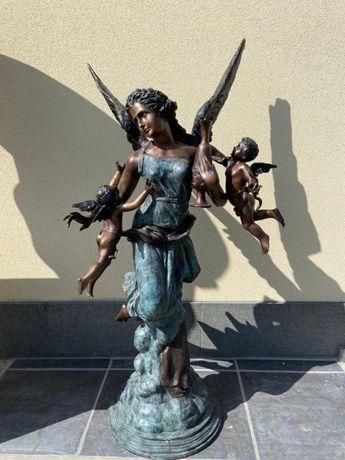Estátua em bronze - Fada com cupidos-ÚNICA