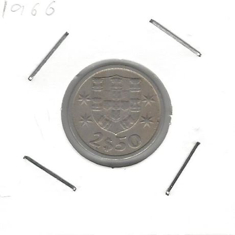2.5 Escudos - Cupro Niquel - 1966