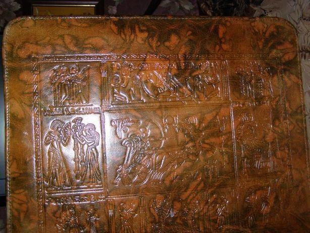 Папка из натур/кожи с теснением для бумаг (Египет)