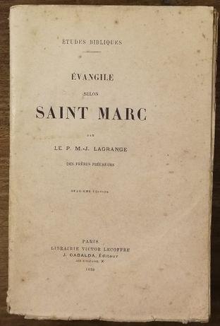 evangile saint marc, le p.m.j. lagrange, 1920
