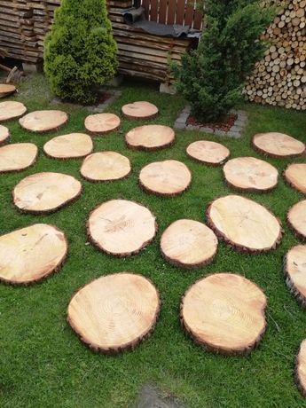 Plastry drewniane