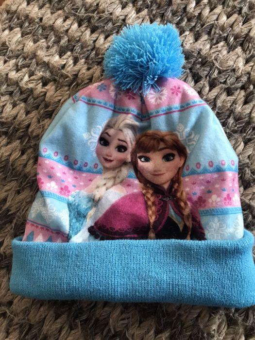 3-6 lat czapka ELSA & ANNA Kraina Lodu czapka zimowa pompon Gdynia - image 1