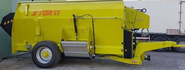 Wóz paszowy STORTI 9m3 wysok. 2,21m włoski, paszowóz poziomy TMR-15min