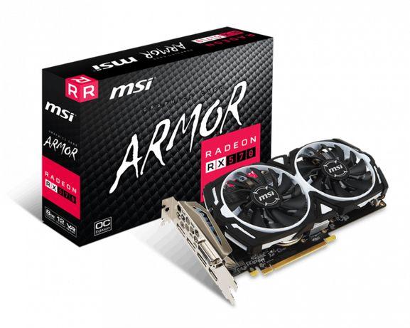 Новая игровая видеокарта MSI Radeon RX 570 ARMOR 8G OC