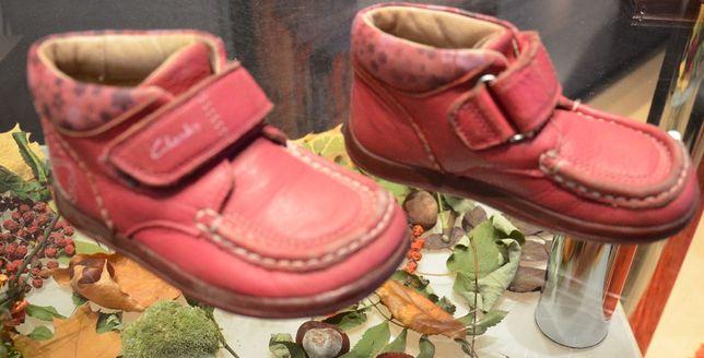 Buty dziewczęce skóra Clarks wkładka 15,5/16cm