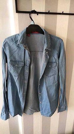 Koszula jeansowa cienka zatrzaski 38 bpc