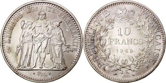 Moeda 50 Francs ano 1965