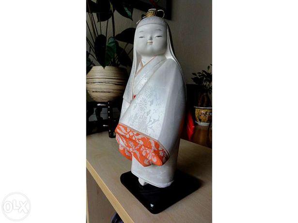 Antiguidade Japonesa Boneca em Cerâmica