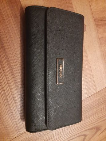 Oryginalny portfel dkny skóra saffiano duzy