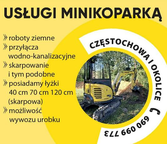 Usługi minikoparką