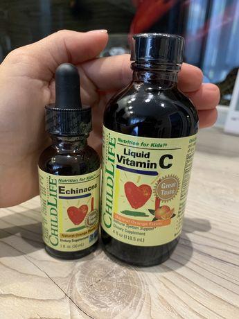 ChildLife, Essentials, эхинацея, и витамин С для детей