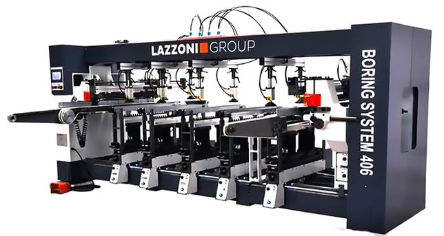 LAZZONI GROUP - Wiertarka przelotowa BS 406 (biesse rilesa vitap gomad