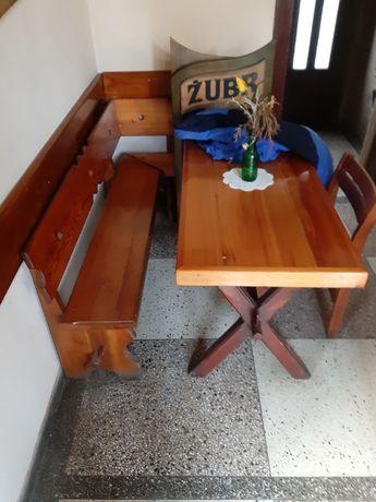 Meble Barowe Lite Drewno Stoły Ławy Krzesła Zestaw