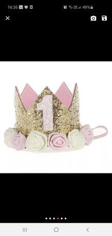 Opaska korona rok roczek urodziny