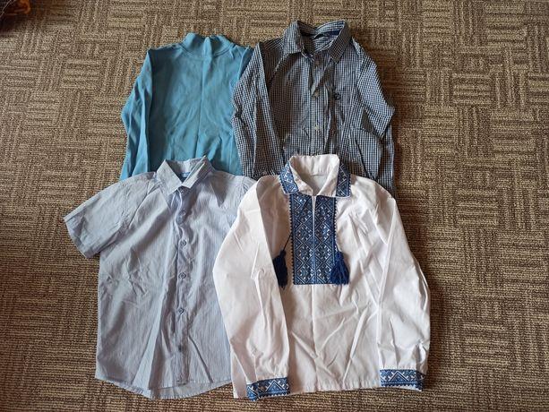 Рубашка, шведка, вышиванка в школу, пакет на мальчика