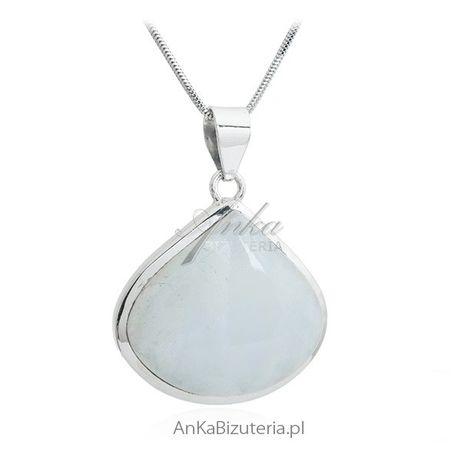 ankabizuteria.pl Blue Moon - Zawieszka srebrna z kamieniem księżycowym