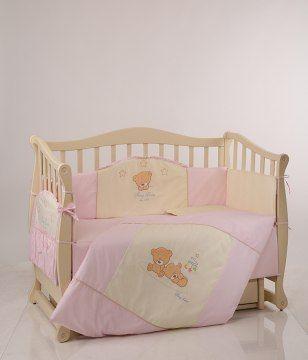 Набор для детской кроватки: одеяло, подушка, постель и бампер