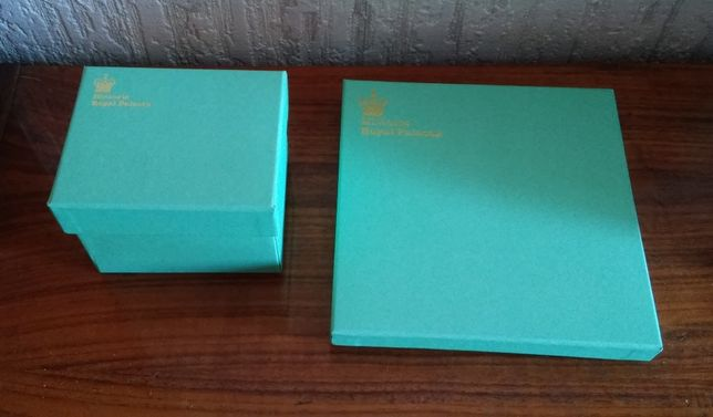Коробка, коробочка подарочная бирюзовая