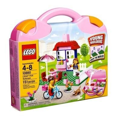 LEGO Bricks & Моге Розовый Чемоданчик с Кубиками Для Девочек (10660)